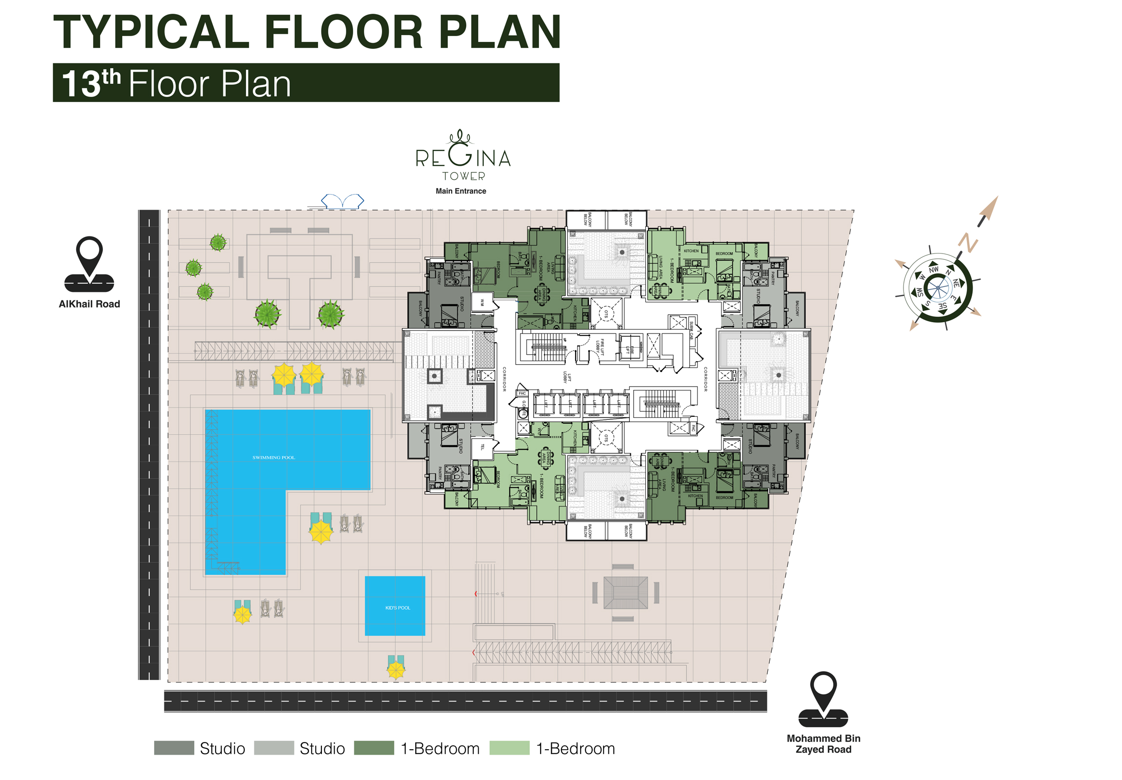 Typical Floor Plan 13th Floor