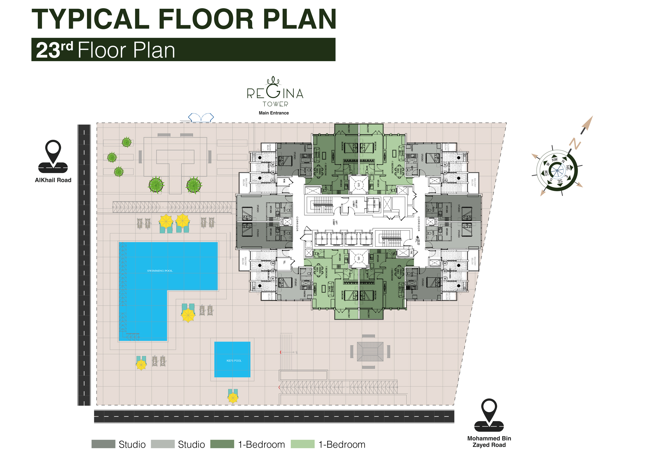 Typical Floor Plan 23rd Floor