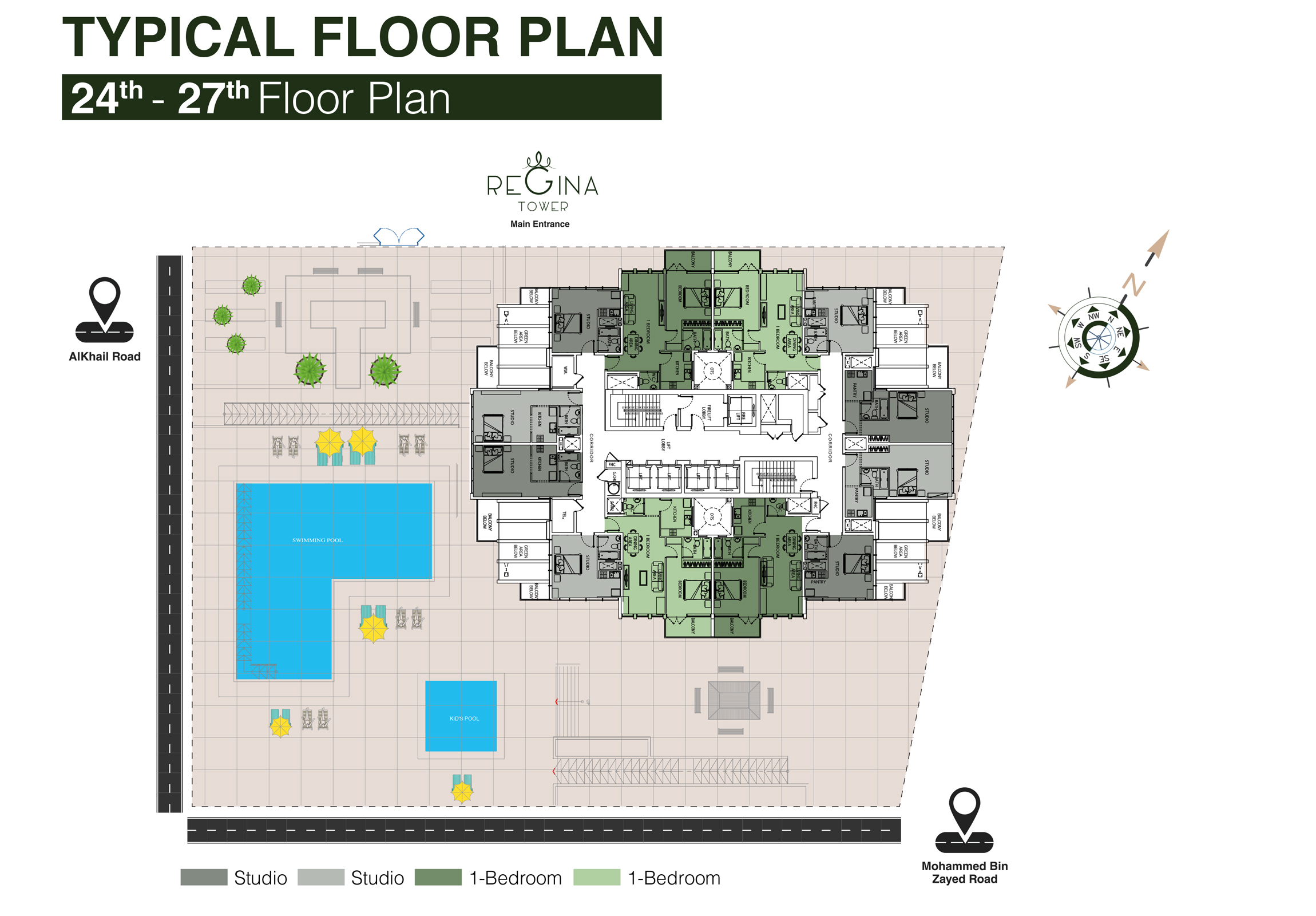 Typical Floor Plan 24th to 27th Floor