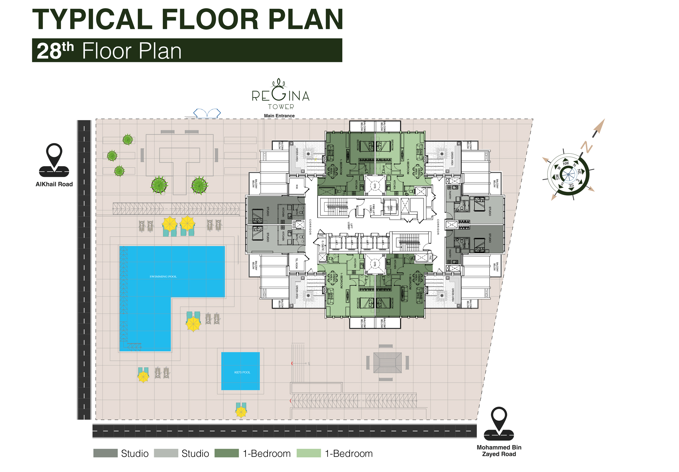 Typical Floor Plan 28th Floor