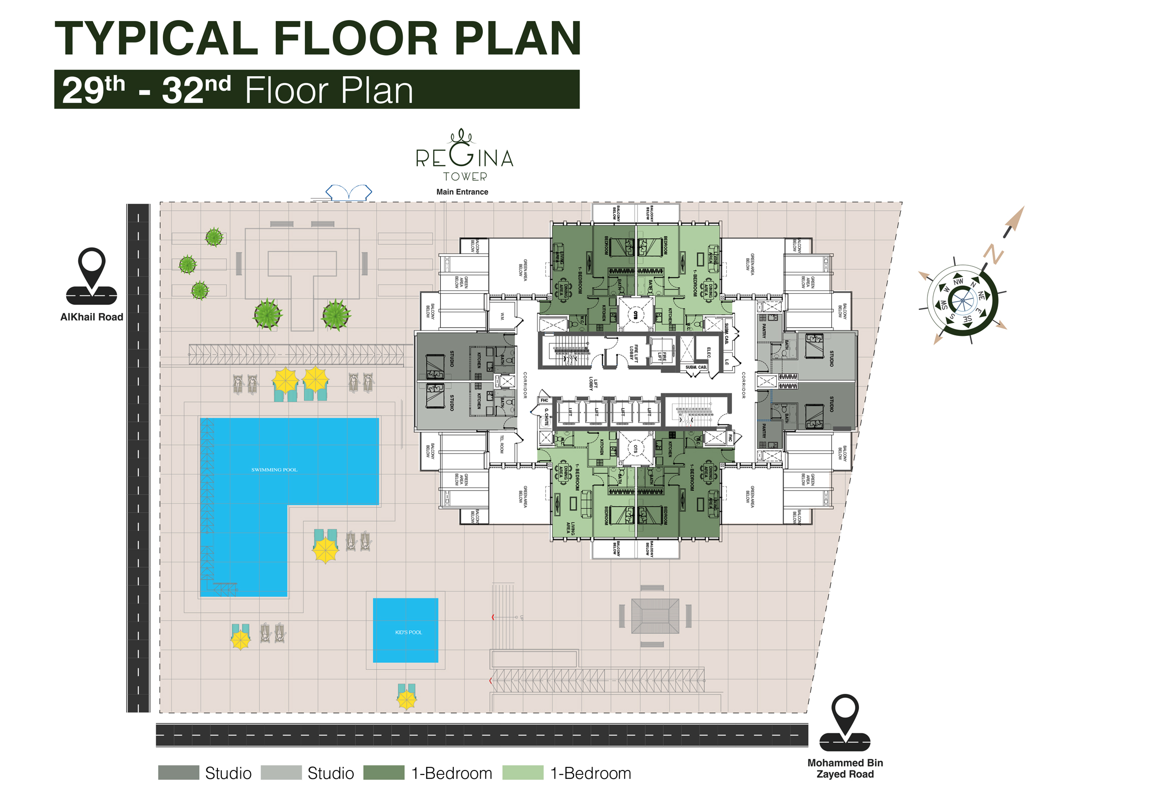 Typical Floor Plan 29th to 32nd Floor
