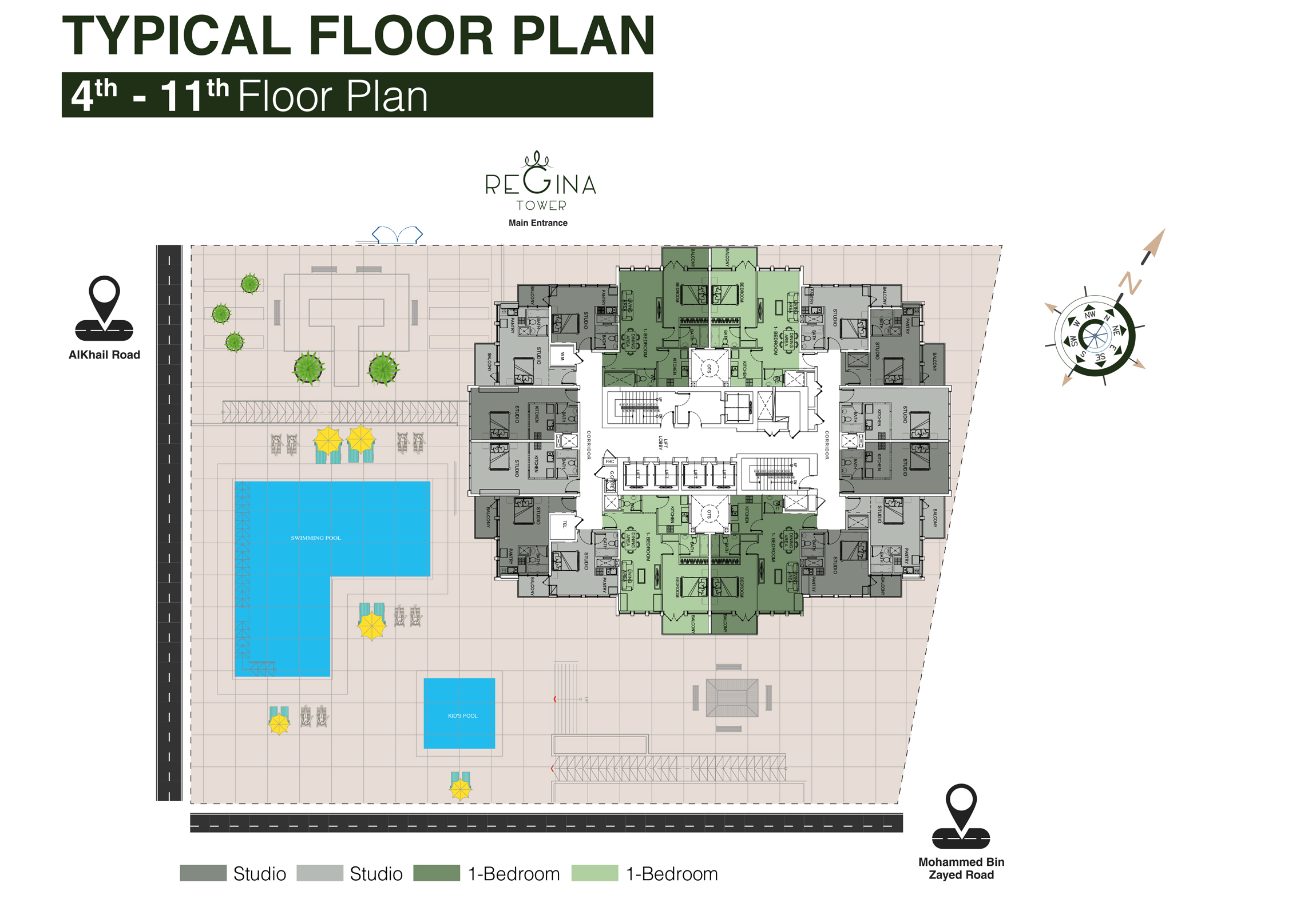 Typical Floor Plan 4th to 11th Floor